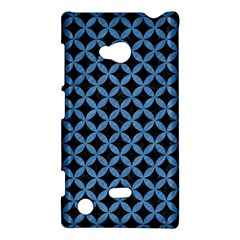 Circles3 Black Marble & Blue Colored Pencil Nokia Lumia 720 Hardshell Case by trendistuff