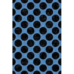 Circles2 Black Marble & Blue Colored Pencil (r) 5 5  X 8 5  Notebook by trendistuff