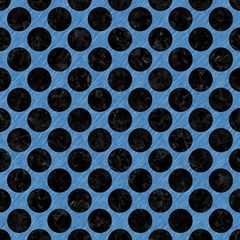 Circles2 Black Marble & Blue Colored Pencil (r) Magic Photo Cube by trendistuff