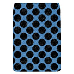 Circles2 Black Marble & Blue Colored Pencil (r) Removable Flap Cover (s) by trendistuff