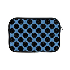 Circles2 Black Marble & Blue Colored Pencil (r) Apple Ipad Mini Zipper Case by trendistuff