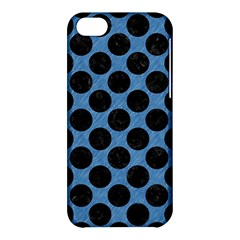 Circles2 Black Marble & Blue Colored Pencil (r) Apple Iphone 5c Hardshell Case by trendistuff