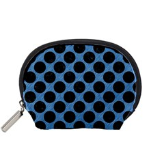 Circles2 Black Marble & Blue Colored Pencil (r) Accessory Pouch (small) by trendistuff