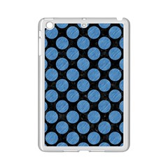 Circles2 Black Marble & Blue Colored Pencil Apple Ipad Mini 2 Case (white) by trendistuff