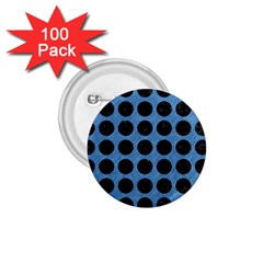 Circles1 Black Marble & Blue Colored Pencil (r) 1 75  Button (100 Pack)  by trendistuff