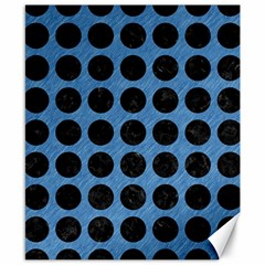 Circles1 Black Marble & Blue Colored Pencil (r) Canvas 8  X 10  by trendistuff