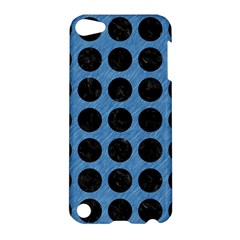 Circles1 Black Marble & Blue Colored Pencil (r) Apple Ipod Touch 5 Hardshell Case by trendistuff