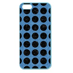 Circles1 Black Marble & Blue Colored Pencil (r) Apple Seamless Iphone 5 Case (color) by trendistuff