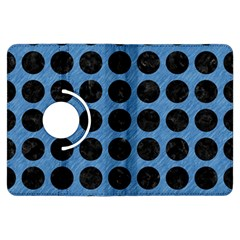 Circles1 Black Marble & Blue Colored Pencil (r) Kindle Fire Hdx Flip 360 Case by trendistuff