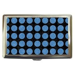 Circles1 Black Marble & Blue Colored Pencil Cigarette Money Case by trendistuff