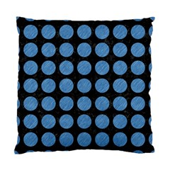 Circles1 Black Marble & Blue Colored Pencil Standard Cushion Case (one Side) by trendistuff