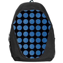 Circles1 Black Marble & Blue Colored Pencil Backpack Bag by trendistuff