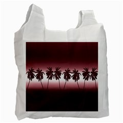 Tropical Sunset Recycle Bag (one Side) by Valentinaart