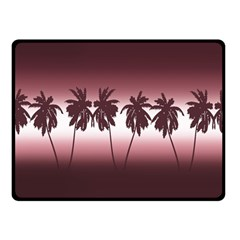 Tropical Sunset Fleece Blanket (small) by Valentinaart