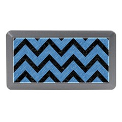 Chevron9 Black Marble & Blue Colored Pencil (r) Memory Card Reader (mini) by trendistuff