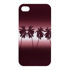 Tropical Sunset Apple Iphone 4/4s Premium Hardshell Case by Valentinaart