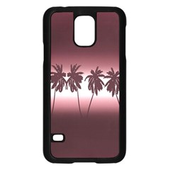 Tropical Sunset Samsung Galaxy S5 Case (black) by Valentinaart