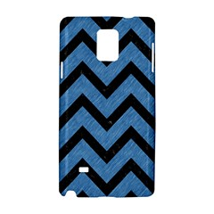 Chevron9 Black Marble & Blue Colored Pencil (r) Samsung Galaxy Note 4 Hardshell Case by trendistuff