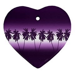 Tropical Sunset Ornament (heart) by Valentinaart