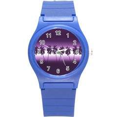 Tropical Sunset Round Plastic Sport Watch (s) by Valentinaart