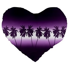 Tropical Sunset Large 19  Premium Heart Shape Cushions by Valentinaart