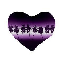 Tropical Sunset Standard 16  Premium Flano Heart Shape Cushions by Valentinaart