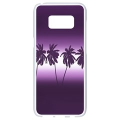 Tropical Sunset Samsung Galaxy S8 White Seamless Case by Valentinaart