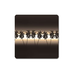 Tropical Sunset Square Magnet by Valentinaart