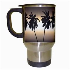 Tropical Sunset Travel Mugs (white) by Valentinaart