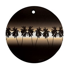 Tropical Sunset Round Ornament (two Sides) by Valentinaart