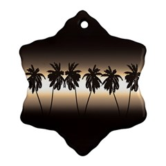Tropical Sunset Ornament (snowflake) by Valentinaart