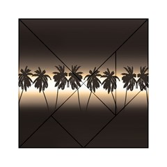 Tropical Sunset Acrylic Tangram Puzzle (6  X 6 ) by Valentinaart
