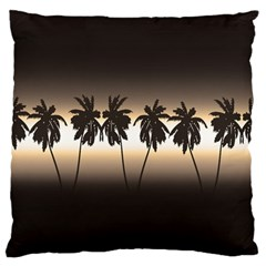 Tropical Sunset Large Cushion Case (two Sides) by Valentinaart