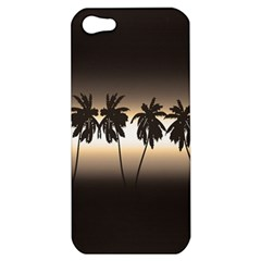 Tropical Sunset Apple Iphone 5 Hardshell Case by Valentinaart