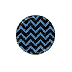 Chevron9 Black Marble & Blue Colored Pencil Hat Clip Ball Marker (4 Pack) by trendistuff