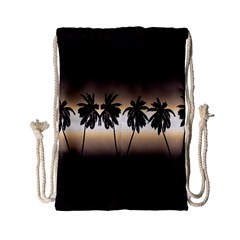 Tropical Sunset Drawstring Bag (small) by Valentinaart