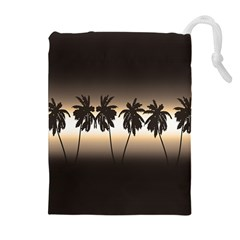 Tropical Sunset Drawstring Pouches (extra Large) by Valentinaart