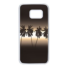 Tropical Sunset Samsung Galaxy S7 White Seamless Case by Valentinaart