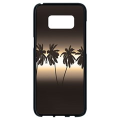 Tropical Sunset Samsung Galaxy S8 Black Seamless Case by Valentinaart