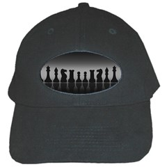 Chess Pieces Black Cap by Valentinaart