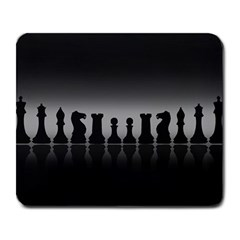 Chess Pieces Large Mousepads by Valentinaart