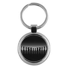 Chess Pieces Key Chains (round)  by Valentinaart