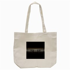 Chess Pieces Tote Bag (cream) by Valentinaart