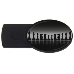 Chess Pieces Usb Flash Drive Oval (4 Gb) by Valentinaart