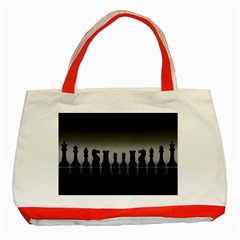 Chess Pieces Classic Tote Bag (red) by Valentinaart