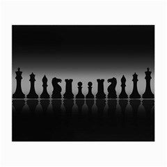 Chess Pieces Small Glasses Cloth (2 Side) by Valentinaart