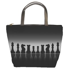 Chess Pieces Bucket Bags by Valentinaart