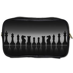 Chess Pieces Toiletries Bags by Valentinaart
