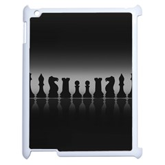 Chess Pieces Apple Ipad 2 Case (white) by Valentinaart