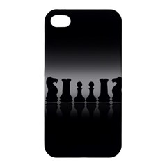 Chess Pieces Apple Iphone 4/4s Premium Hardshell Case by Valentinaart